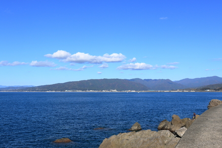 Scenery from the top of the Oyama Cape levee 写真素材