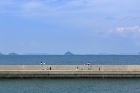 Leisurely with levees (Kagawa Prefecture Ogijima)