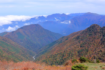 View from the top of the mountain (Ehime prefecture Kamegamori) Stock fotó