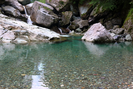 High transparency Yasui Valley (Kochi Prefecture) Banque d'images