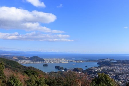 Enjoy the view from the summit of Mt. Washio (Kochi City) Stock fotó