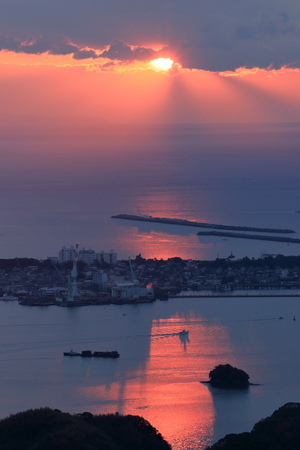 Dawn of Tosa Bay and Urado Bay (Kochi Prefecture)
