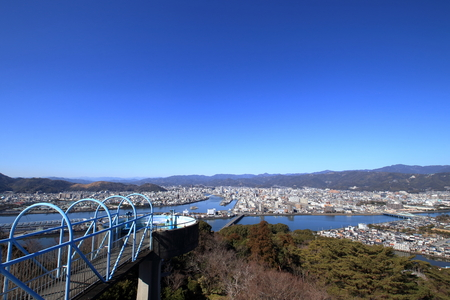 View from the Godai Mountain Observatory (Kochi Prefecture) Stock fotó