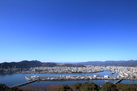 View Kochi City from Godai Mountain Observatory (Kochi City)