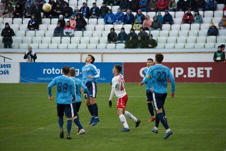 Volgograd, Russia. March 3, 2019. FC Rotor Volgograd vs FC Spartak-2. The Stadium