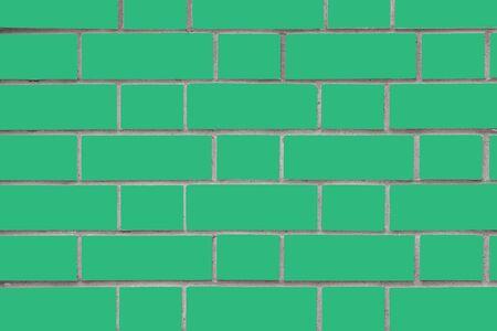 Light green brick wall. Vector graphics. Background image of a brick wall. Textural abstract image.
