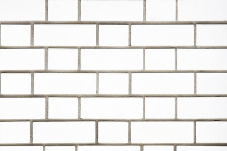 White brick wall for background. Textures and backgrounds.