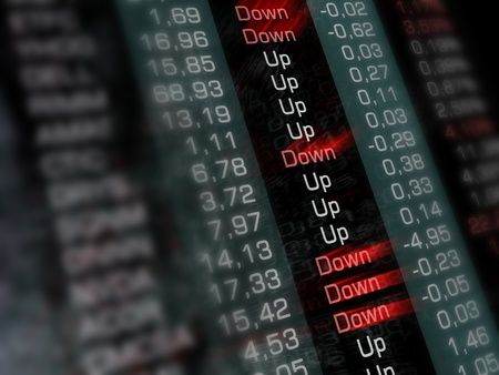 Finance report. Quotes at the stock. photo