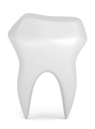 carious: Model of tooth isolated on white Stock Photo