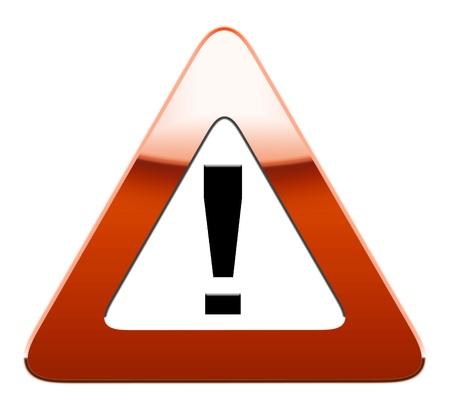 Warning road sign isolated on white background.  Stock Photo - 8791494