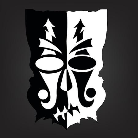 godhead: black white mask Illustration