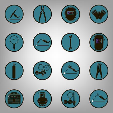 Set Ikonen der Schweiß isoliert auf schwarz. Vektor-Illustration Vektorgrafik