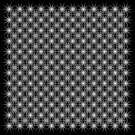 repetition: background of symmetrical repetition abstract stars.