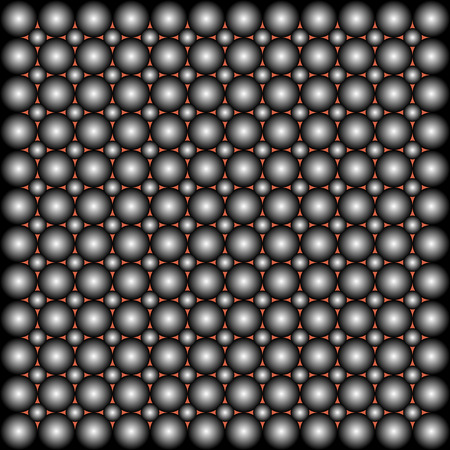 repetition: background of symmetrical repetition abstract balls.