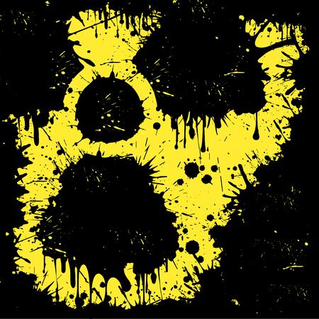plutonium: sign of radiation from blots. Vector illustration Illustration