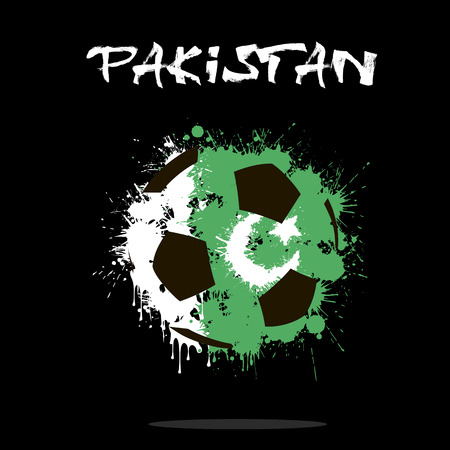 flag of pakistan: Abstract soccer ball painted in the colors of the Pakistan flag. Vector illustration