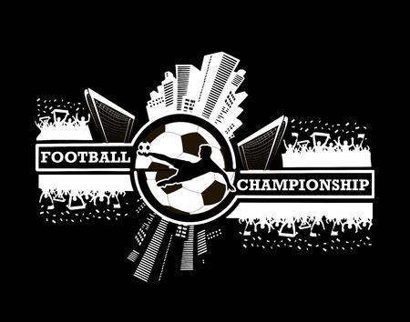 Logo voetbalkampioenschap Stock Illustratie