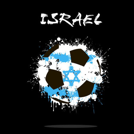 Flag of Israel as an abstract soccer ball
