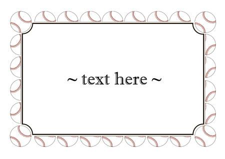 frame met honkbal ballen op een witte achtergrond. Vector illustratie