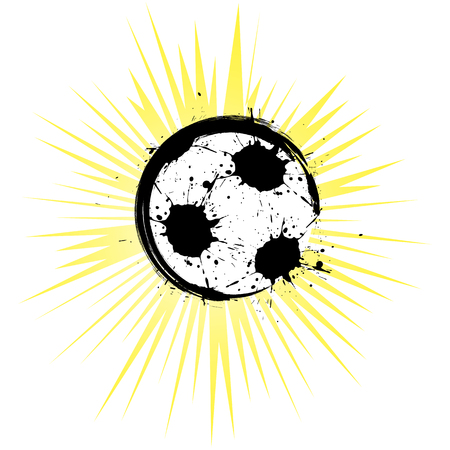 Abstract soccer ball on white background. Grunge style. Vector illustration