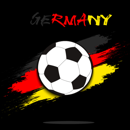 soccer goal: Soccer ball on the background of the Cameroon flag in grunge style. Vector illustration Illustration