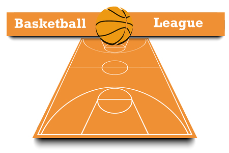 Basketball result of the match. Infographic. Vector illustration Illustration