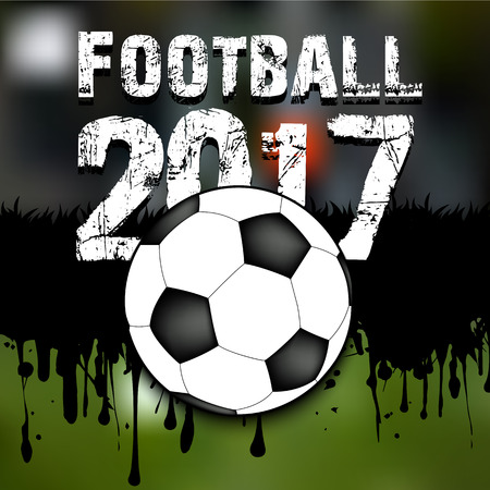 business pitch: Abstract background football 2017. Grunge background. Vector illustration
