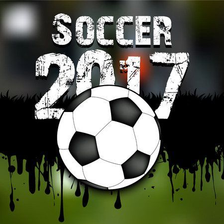 business pitch: Abstract background soccer 2017. Grunge background. Vector illustration Illustration