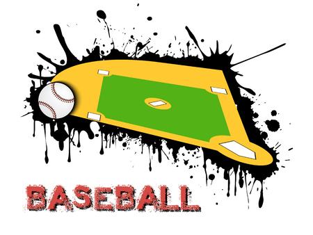 Abstract baseball design