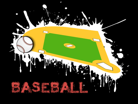 Abstract baseball design
