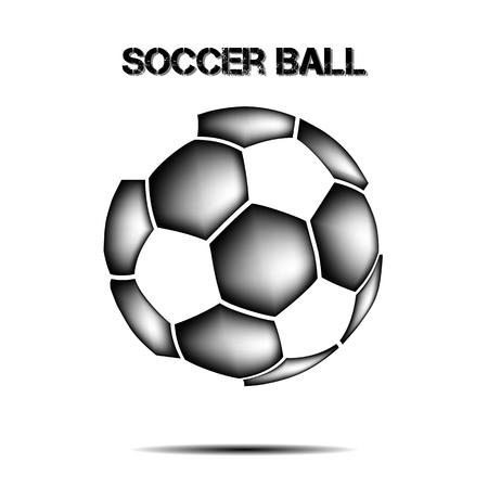 Soccer ball icon. Isolate on white background. Vector illustration Illustration