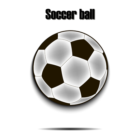 Soccer ball icon. Isolate on white background. Vector illustration Illustration