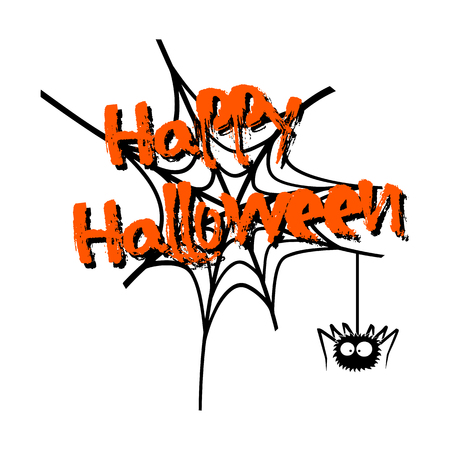 Banner happy halloween and web