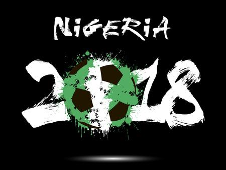 Nigeria 2018 soccer  banner.