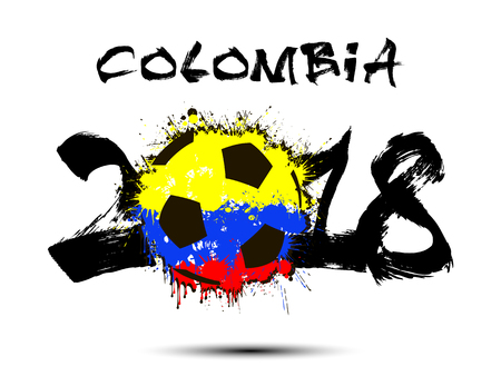 Columbia flag for 2018 soccer game icon.