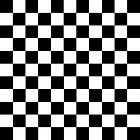 Black and white checkered background. Chess pattern. Vector illustration Stock fotó - 93045832