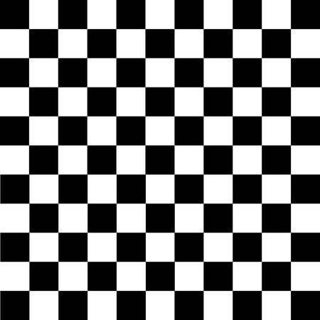 Zwart-witte geruite achtergrond. Schaken patroon Vector illustratie