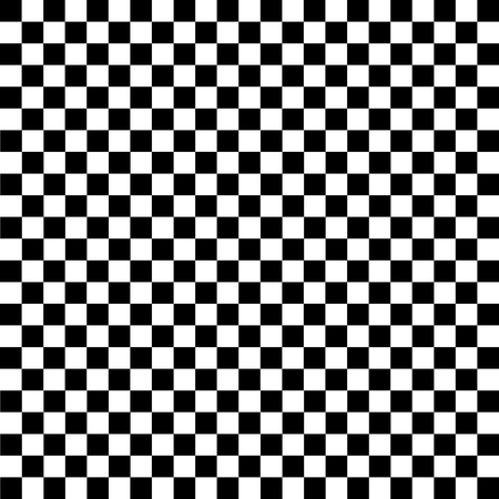 Black and white checkered background. Chess pattern. Vector illustration Ilustração