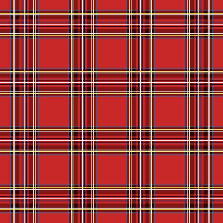 Jaula escocesa, celta roja. Fondo a cuadros rojo escocés. Patrón escocés Ilustración vectorial Ilustración de vector