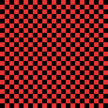 Black and red checkered background. Illustration