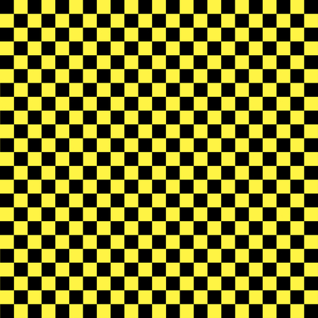 Black and yellow checkered background. Background in a cage. Vector illustration Stock Illustratie