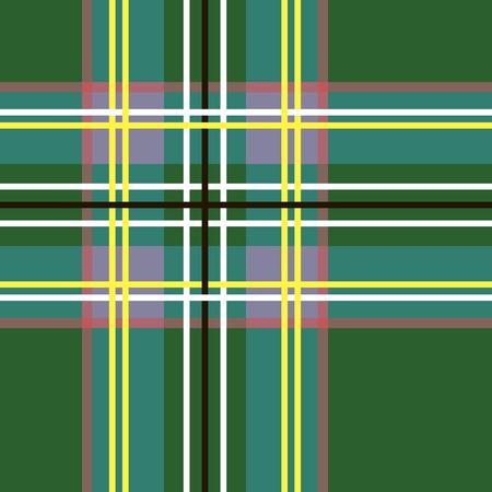 Scottish cage, green Celtic. Scottish green checkered background. Scottish pattern. Vector illustration.