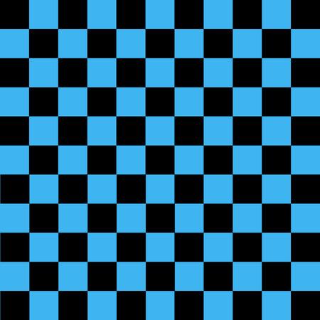 Black and blue checkered background. Background in a cage. Vector illustration Ilustração