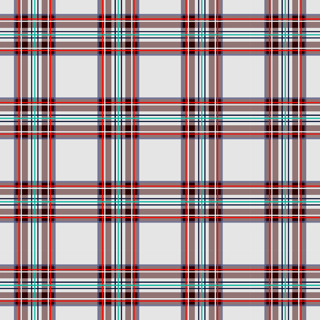 Jaula escocesa, celta blanca. Fondo a cuadros blanco escocés. Patrón escocés Ilustración vectorial