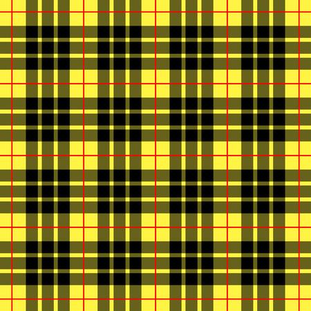 Ilustración de Vector de fondo a cuadros amarillo escocés Ilustración de vector