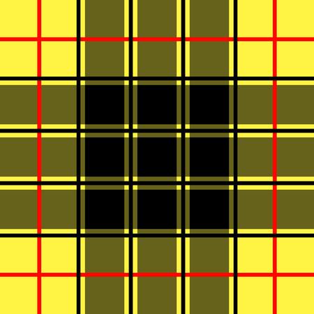 Scottish yellow checkered background pattern. Vector illustration