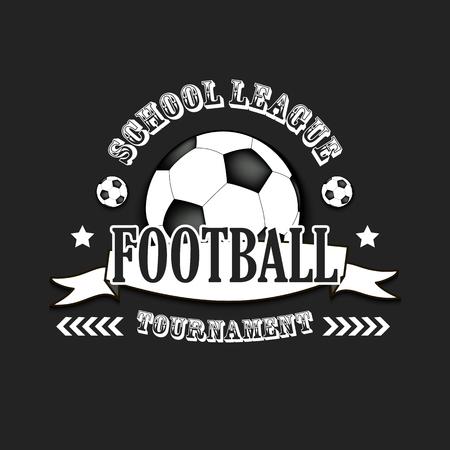 Voetbal logo sjabloonontwerp. Voetbal logo. Amerikaanse competitie. Vector illustratie