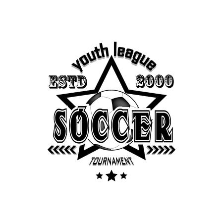 Soccer logo template design. Football logo America league. Vector illustration Logo