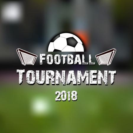 Soccer logo template design. Football tournament 2018. Vector illustration