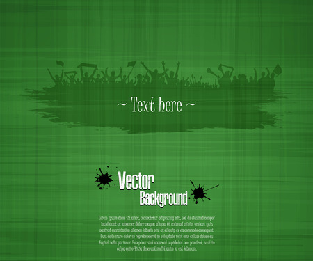Grunge background for sporting events and concerts. Grunge banner with splashes of ink. Vector illustration Vettoriali